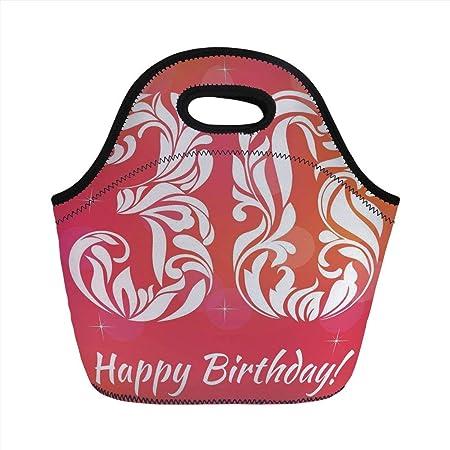 Bolsa de almuerzo portátil, decoración de 30 cumpleaños ...
