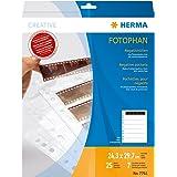 Herma 7761 - Paquete de 25 fundas para negativos de fotos (7 negativos por funda)