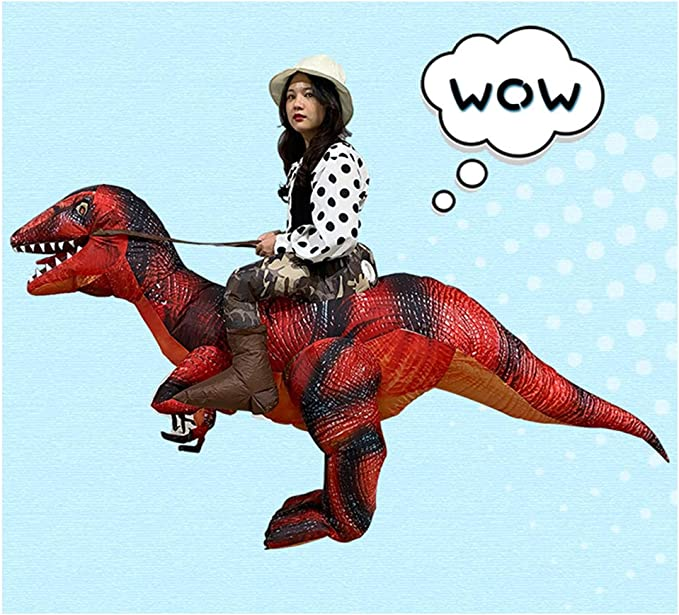 Amazon.com: Disfraz inflable de dinosaurio T-Rex, para ...