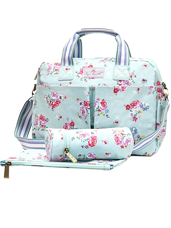 Reya Rosette Meadow Rose Diaper Changing Bag
