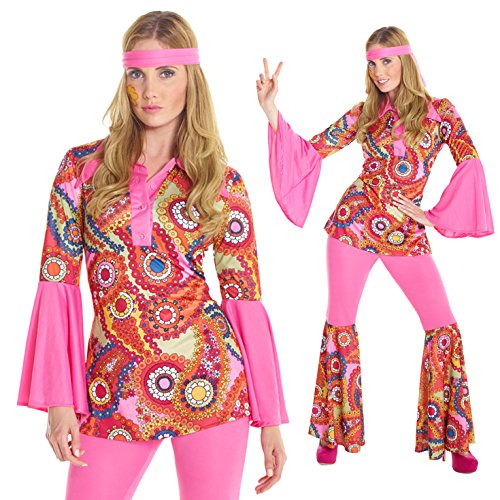 [Womens 1960s Hippie Flower Child Peace Love Costume Costume] (Womens Halloween Costumes Uk)
