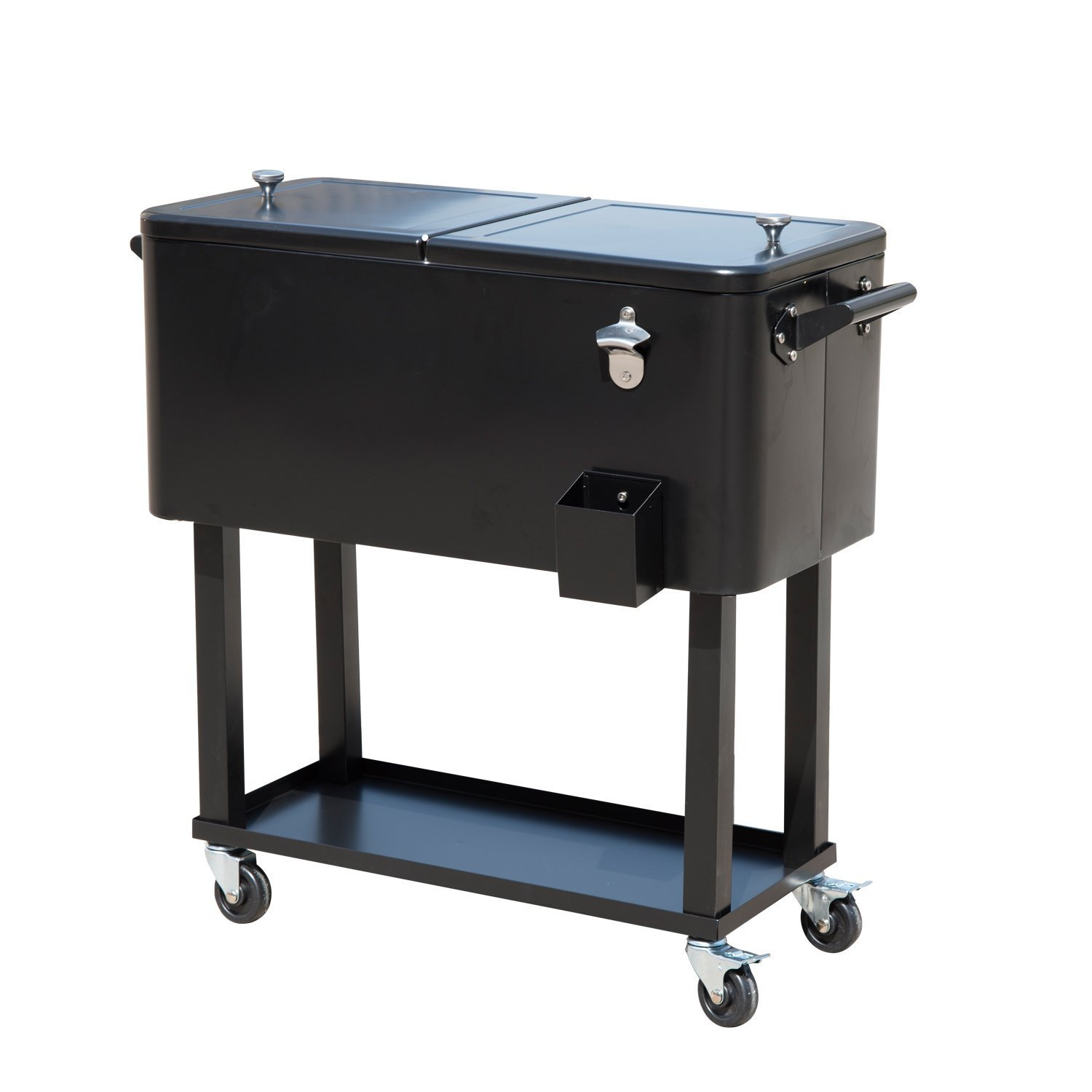 Amazon.com : Outsunny 80 QT Rolling Ice Chest Portable Patio Party Drink  Cooler Cart   Black : Garden U0026 Outdoor