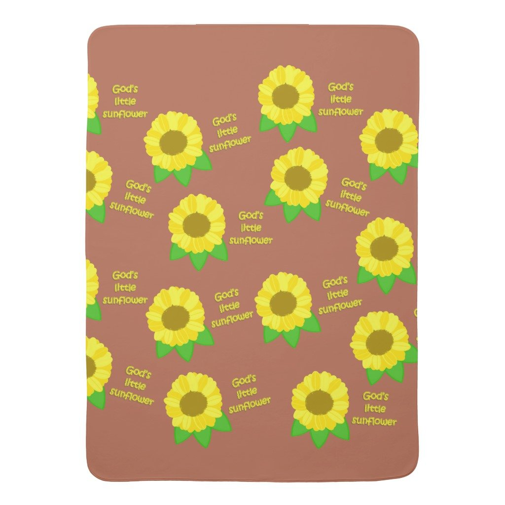 Zazzle God's Little Sunflowers Baby Blanket