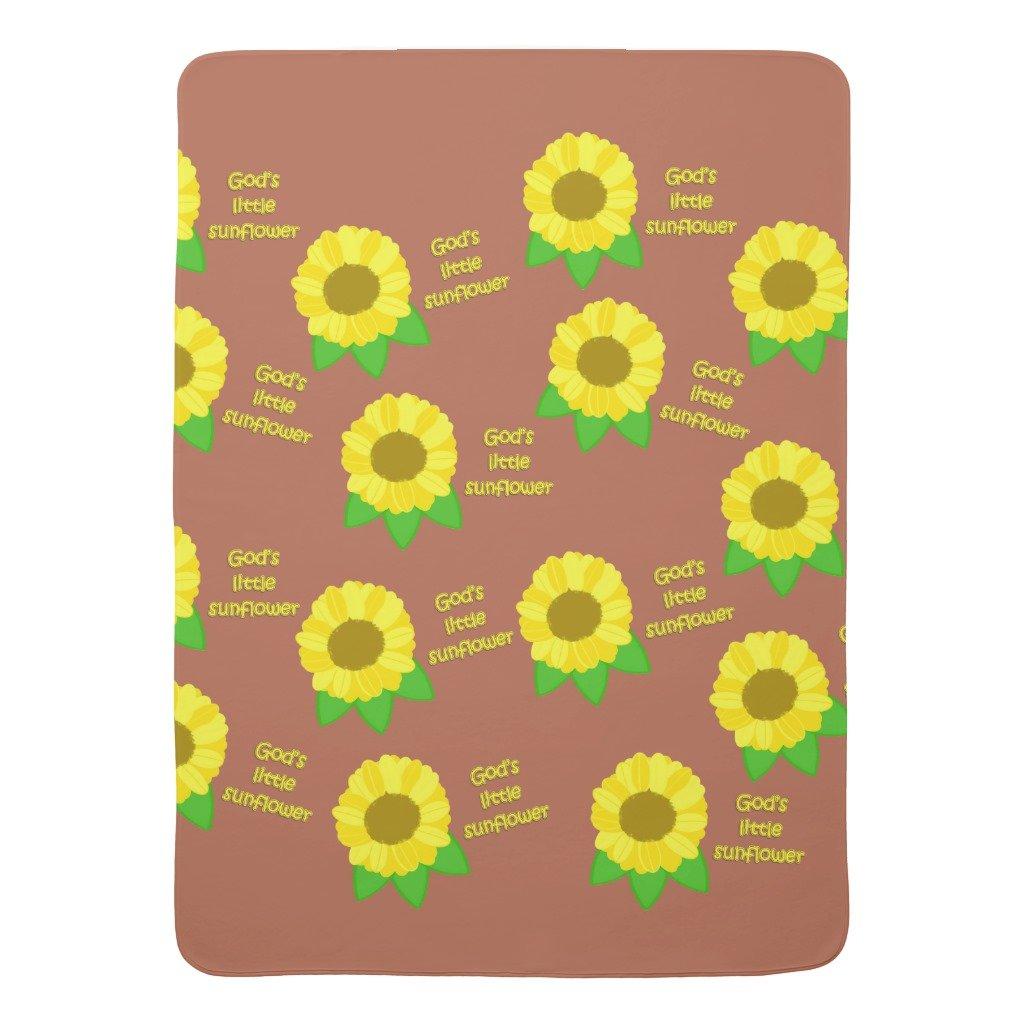 Zazzle God's Little Sunflowers Baby Blanket by Zazzle