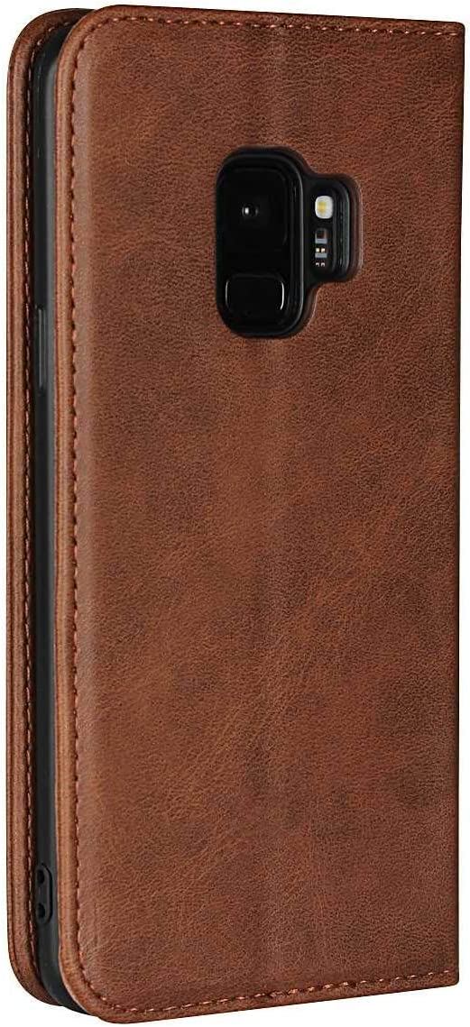 Galaxy S9 Wallet Case Black Card Slots and Magnetic Closure for Samsung Galaxy S9 SONWO Luxury PU Leather Flip Wallet Cover Case with Kickstand