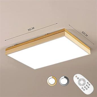 Wmshpeds Nordic Wohnzimmer Leuchten, Rechteckig, LED, Holzdecke, Einfache  Kreativität, Warmen Schlafzimmer