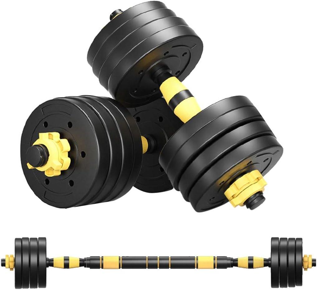 Juego de pesas ajustables ejercicio en casa juego de pesas con barras de conexi/ón se utiliza como juego de pesas para gimnasio juego de mancuernas con diferentes pesos