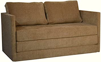 mubell hughes folding sofa cum bed with two seater in biege colour opens into 6
