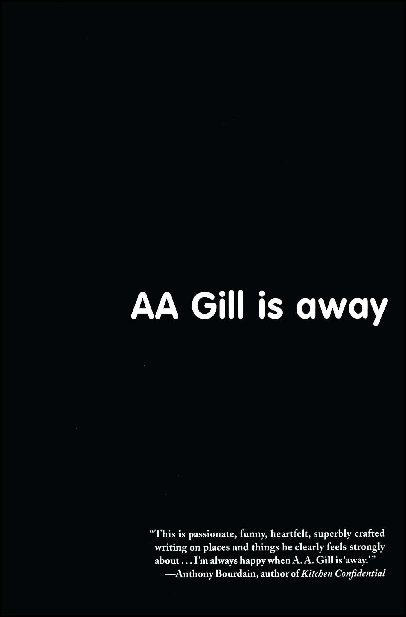 aa gill is away a a gill books