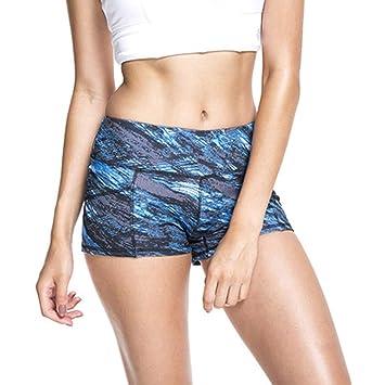 Amazon.com : Middle Waist Yoga Shorts Digital Print Push Up ...