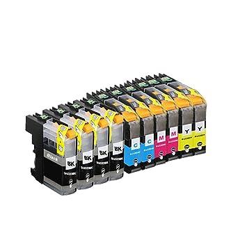 10 ECS Cartucho de Tinta Compatible reemplazar LC225 X L/227 x l ...