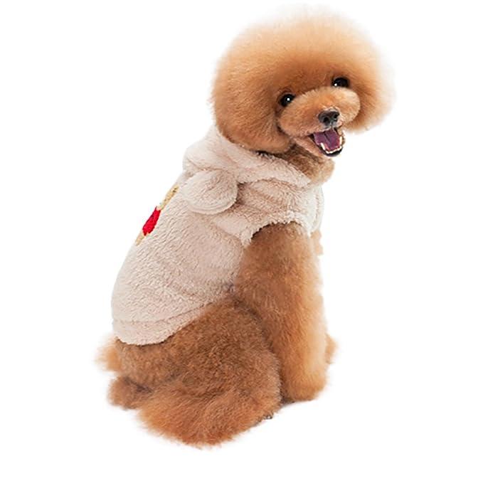 zolimx® Mascotas Perros Accesorios Ropa, Moda Mascotas Cachorro Perro Gato Sudadera Ropa con Capucha Abrigo de Invierno Mono Traje de Vestir: Amazon.es: ...
