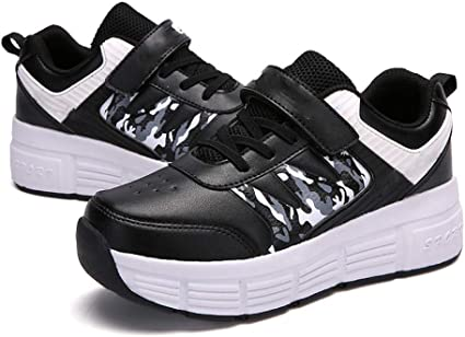 Double Wheels Pulley Shoes, Velcro