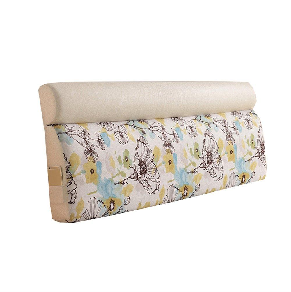 ベッドサイドの厚いクッション三角枕と長い背もたれ取り外し可能で洗濯可能なダブルプロテクションウエストクッション枕を読む (色 : #4, サイズ さいず : 200 * 60 * 12cm) B07DK6NJGJ 200*60*12cm #4 #4 200*60*12cm