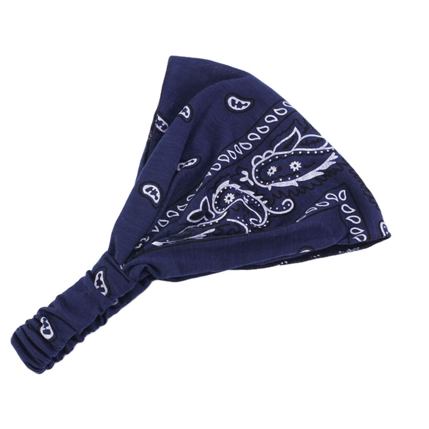 Amazon.com: Women Paisley Bandana Headband Dance Headband ...