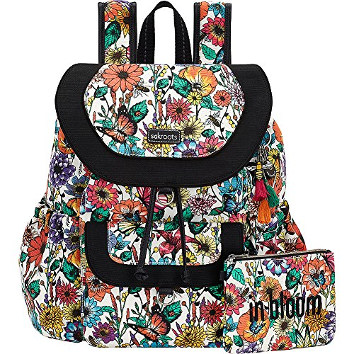 Sakroots Artist Circle Flap Backpack (Optic In Bloom)