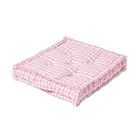 Homescapes - Cojín para Asiento, Color Rosa Blanco 50 x 50 ...