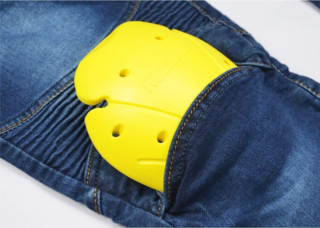Uomo Moto Biker Jeans Rinforzato Protezione Pantaloni Linning Includono Armature Motorcycle Pants blu M- Waist 33