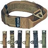 "HEAVY DUTY Military Army Tactical K9 Dog Collars Handle HOOK & LOOP Width 1.5in Plastic Buckle Medium Large (XL: Neck 14"" - 18"", MILITARY BROWN)"