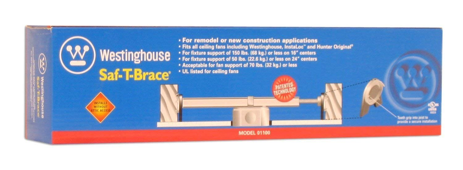 Westinghouse 0110000 Pack of 4 Saf-T-Braces for Ceiling Fans 3 Teeth Twist and Lock