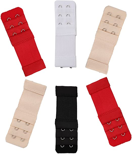 Ximimark Bra Strap Extender Back Extension Underwear Belt for Women Lady 2 Hooks 3 Rows