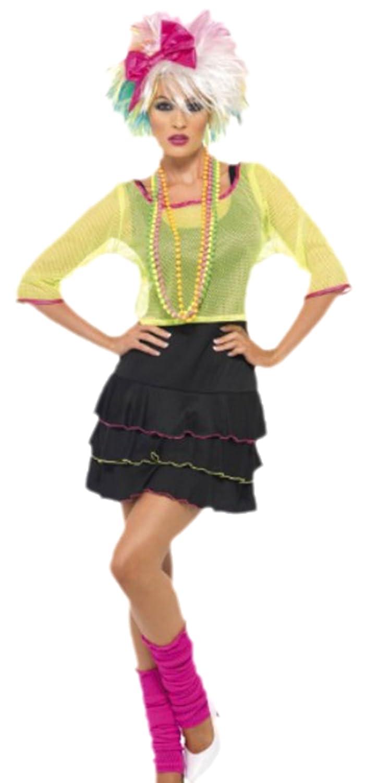 Fancy Ole - Damen Frauen 80er Jahre Disco Queen Kostüm, S, Mehrfarbig