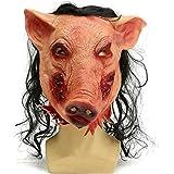 HAOSUN Halloween Horrible Mask Pig Face Mask Masquerade Costume Latex Mask