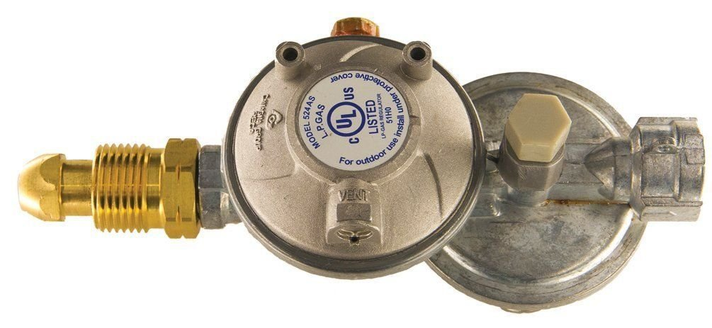 Cavagna Group 52-A-490-0003 Dual Stage Regulator Type 524AS, Horizontal Vent, Overpressure Protection Device, Zamak
