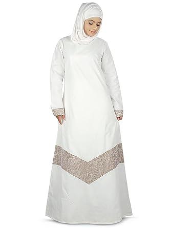 8d16b9ce9 MyBatua Women's Samaira Hajj Prayer Abaya Online Islamic Clothing in White  (X-Small)
