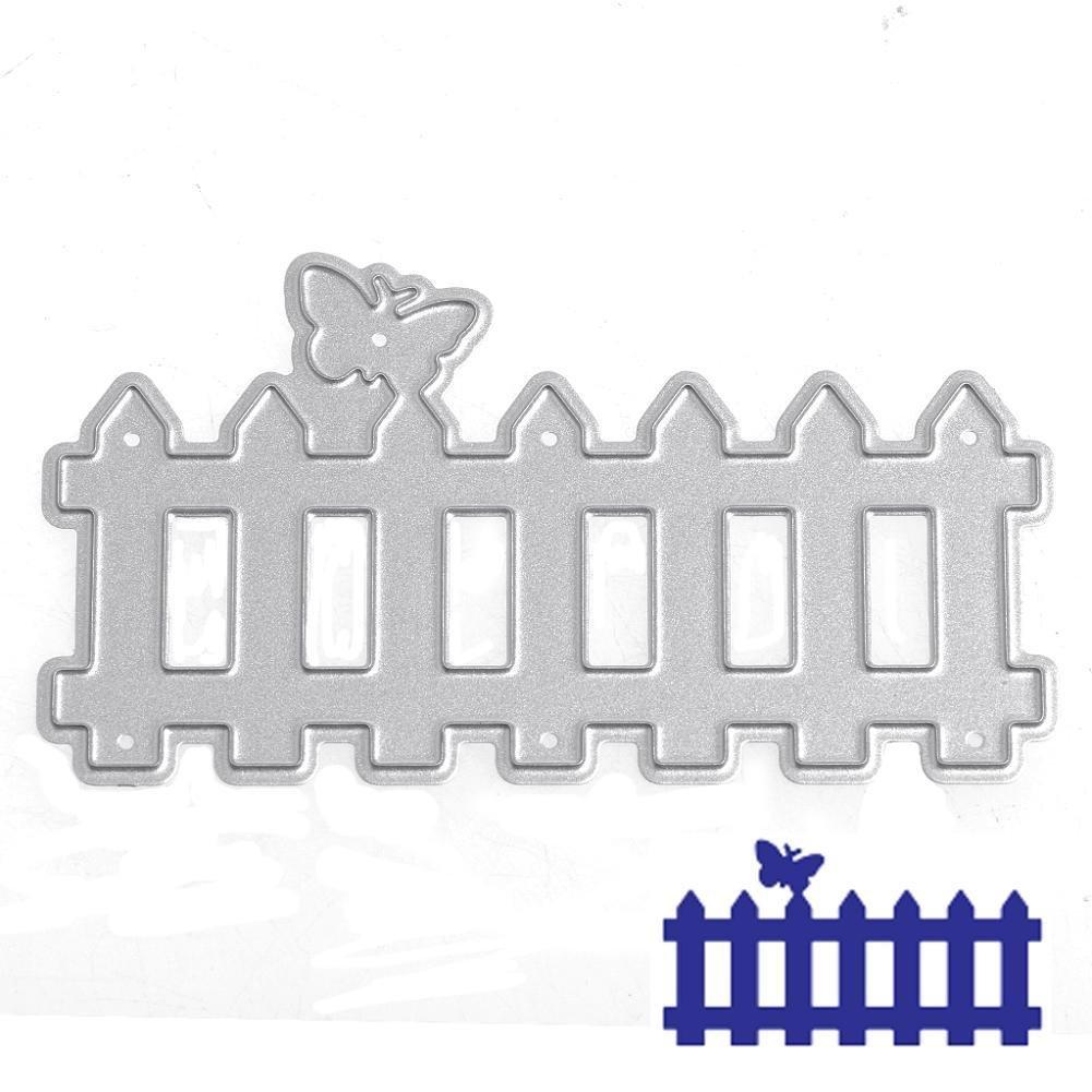 Amazon.com: LIYUDL Fence Metal Cutting Dies Stencil Scrapbook Paper ...