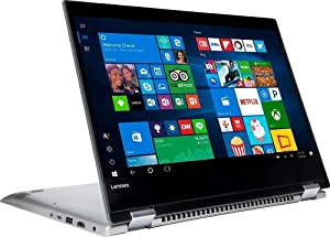 "2018 Lenovo IdeaPad 2 in 1 Laptop (Windows 10 Home 64-Bit, Intel Pentium 4415U 2.30GHz Processor, 14"" Multitouch Touchscreen Wide LED Display, SSD: 256 GB, RAM: 8 GB DDR4) Grey"