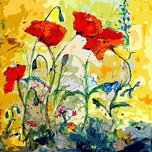 Wall Art  Poppies Provencale Contemporary Decor