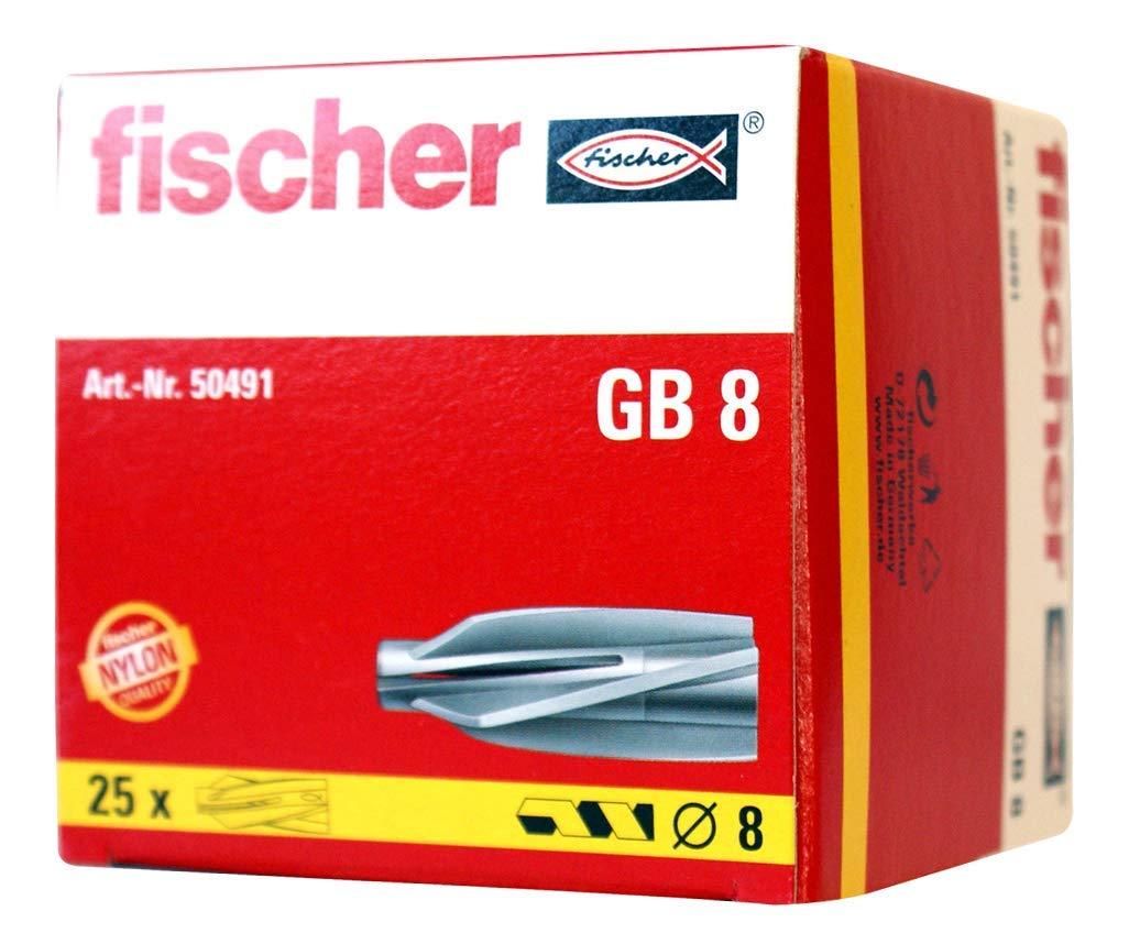 Fischer 50491 Gasbetondü bel GB 8, fü r Porenbeton, 25 Stü ck