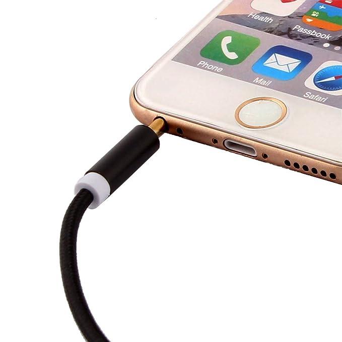 Amazon.com: eDealMax Nylon Smartphone Reproductor de MP3 de la PC del coche del ordenador Principal DE 3,5 mm Macho a Macho trenzado de Audio estéreo ...