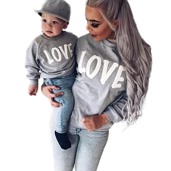 13d1d7a42e Mommy and Me Matching Shirts, Love T Shirt Tops Matching Mother Daughter  Outfits: Amazon.ca: Clothing & Accessories