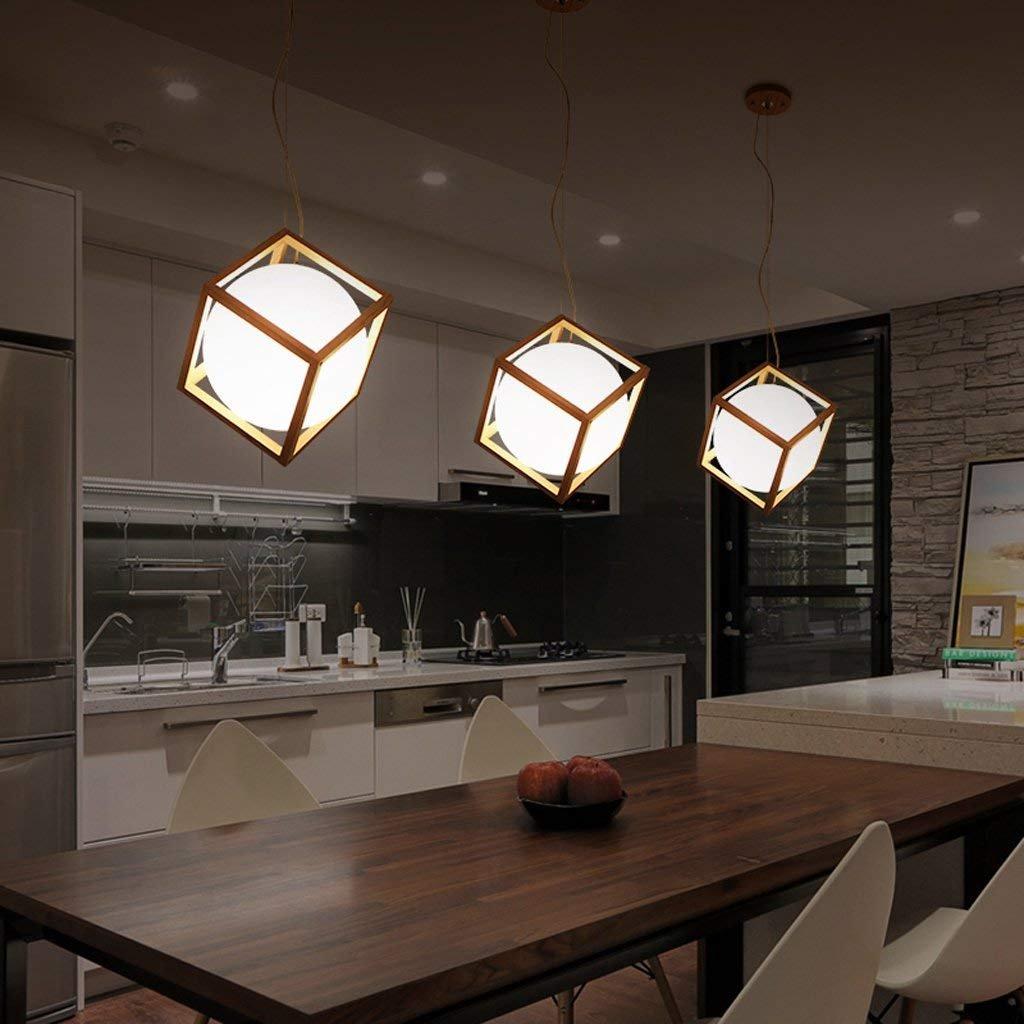 JU Kronleuchter Kreative Restaurant Kronleuchter Einfache Design Bar Bar Bar Bar Cafe Log Lampe Wohnzimmer Restaurant Massivholz Lampe B07J39PN2R | Online-Exportgeschäft  6aa4b5