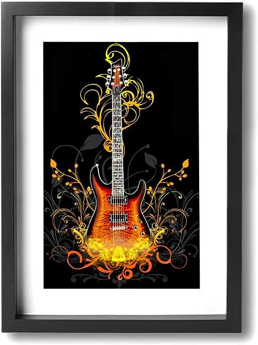 Pintura C Free Guitarra Arte de Pared Póster Obras de Arte ...