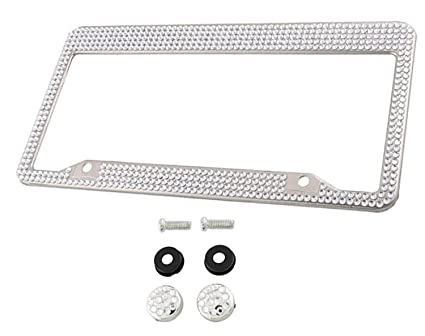 Amazon.com: Swarovski Crystal License Plate Frame Holder Cover with ...