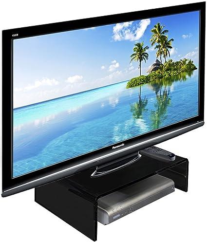 Alta calidad brillante negro acrílico TV/Monitor/portátil/soporte para pantalla LCD pantalla de ordenador Riser zócalo puente (varios tamaños), color negro 300mm x 300mm x 100mm: Amazon.es: Oficina y papelería