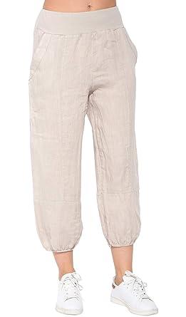 site web pour réduction moitié prix style top La fabrique du lin Pantacourt Femme: Amazon.fr: Vêtements et ...