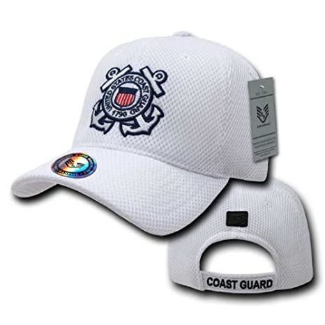 2963a83b Amazon.com: Rapid Dominance Air Mesh Military Caps - Coast Guard - WHT:  Everything Else