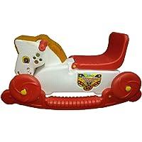 Rider Horse 2-In-1 Rocker Cum Ride-On Toy For Kids - (White & Red)