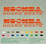 "Set of two of Moomba Boats Outboards Decals Vinyl Stickers Boat Outboard Motor Lot of 2 (36"", Orange 034)"