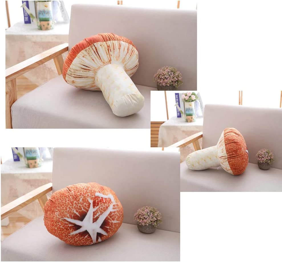 Funny Mushroom Pillow 18cm Stuffed Doll Car Sofa Office Cushion Plush Pillow QK