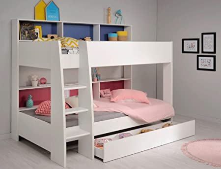Etagenbett Zubehör Mädchen : Expendio etagenbett tamina weiß cm pink blau