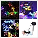MOONHOUSE Solar Starfish Shaped Striking String Light 30 LED,Night Fairy Light Lamp Xmas Party Romantic Bar Window Curtain Decor (Multicolor)