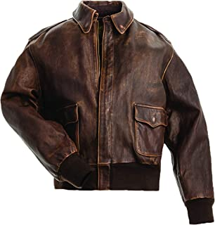 product image for Mustang A-2 Brown Leather Jacket