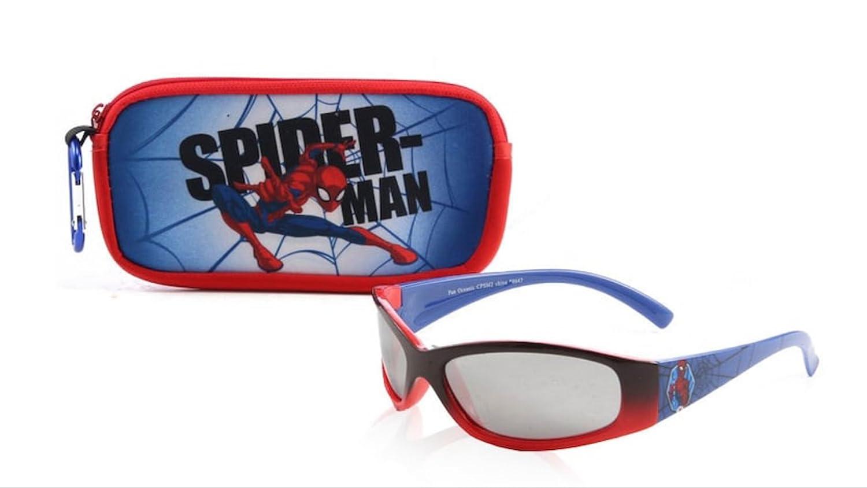 Marvel Spiderman Kids' 2 Piece Sunglasses & Soft Case Set 100% UVA & UVB Protection