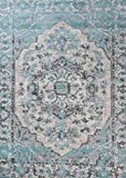 674 Oriental Blue 5×7 Area Rug Carpet Large New For Sale