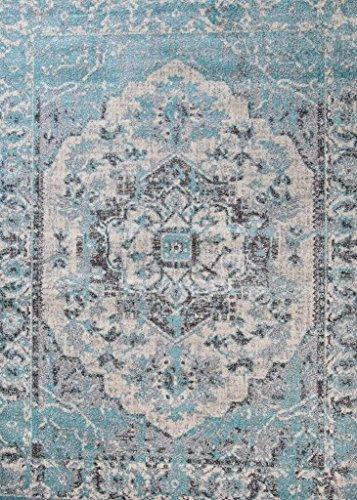 674 Oriental Blue 8×10 Area Rug Carpet Large New